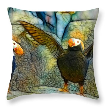 I Love So Much Throw Pillow by Francine Dufour Jones