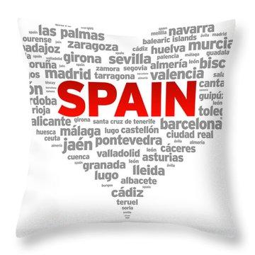 I Love Spain Throw Pillow