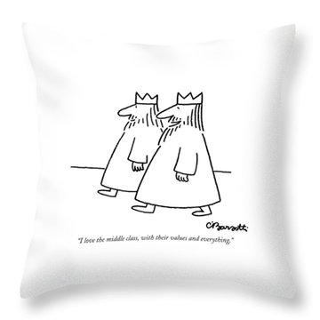 I Love The Middle Class Throw Pillow
