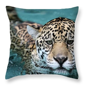 I Love The Water Throw Pillow