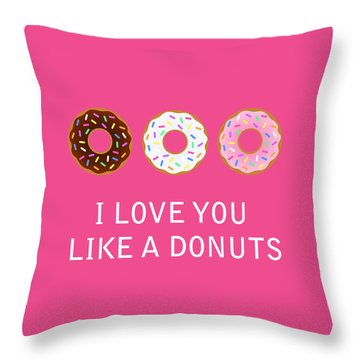Donuts Throw Pillows