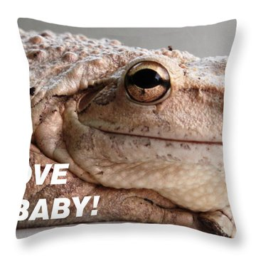 Frog Declaration Of Love Throw Pillow