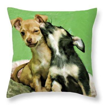 I Love You Bro Throw Pillow by Kenny Francis