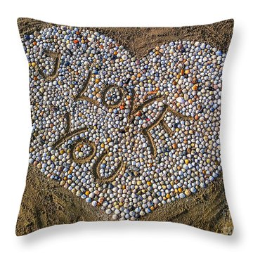 I Love You Throw Pillow by Hannes Cmarits