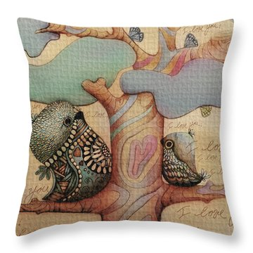 I Love You Throw Pillow by Karin Taylor
