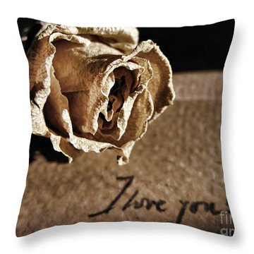 I Love You Letter Throw Pillow