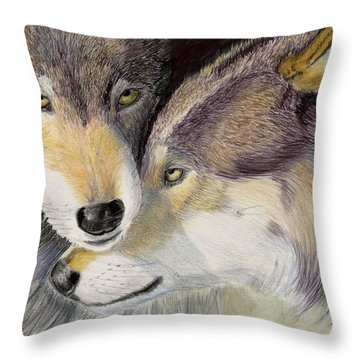 I Love You Throw Pillow by Ruth Seal