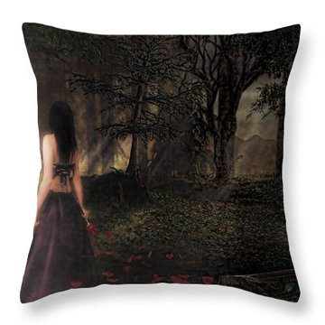I Love You To Death Throw Pillow by Kristie  Bonnewell