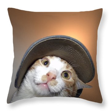 I Love Your Hat Daddy Throw Pillow