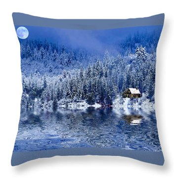 I Loved You In Winter Throw Pillow