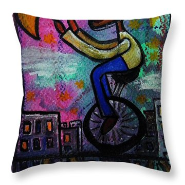 I M Reaching For The Stars And Moon  Nothing Is Impossible Throw Pillow