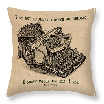 I Must Write On Throw Pillow