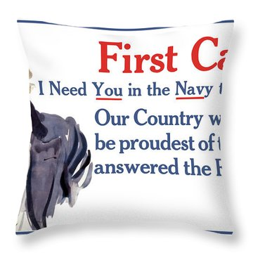 I Need You In The Navy - Uncle Sam Wwi Throw Pillow