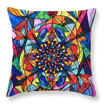 I Now Show My Unique Self Throw Pillow