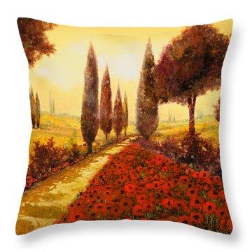 I Papaveri In Estate Throw Pillow