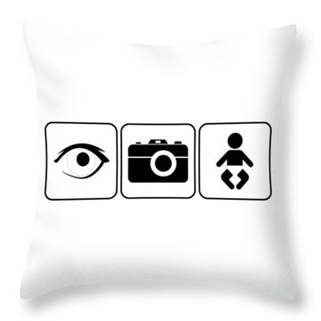 Throw Pillow featuring the digital art I Photograph Babies by Brian Carson