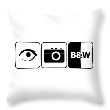 Throw Pillow featuring the digital art I Photograph Black And White by Brian Carson