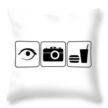 Throw Pillow featuring the digital art I Photograph Food by Brian Carson