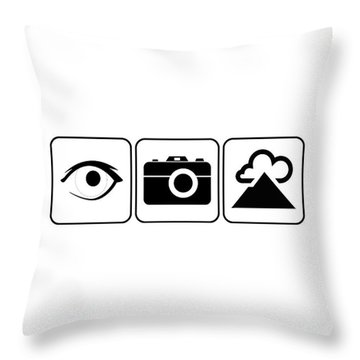 Throw Pillow featuring the digital art I Photograph Landscapes by Brian Carson