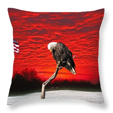 I Pledge Allegiance Throw Pillow