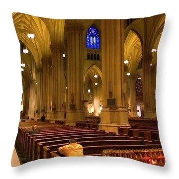 I Pray Throw Pillow by Karol Livote