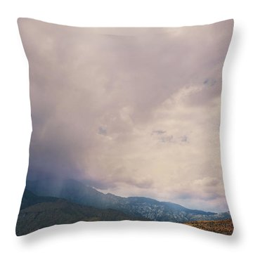 I Predict Rain Throw Pillow by Laurie Search
