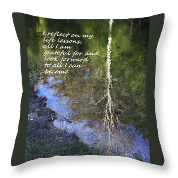 Throw Pillow featuring the photograph I Reflect by Patrice Zinck
