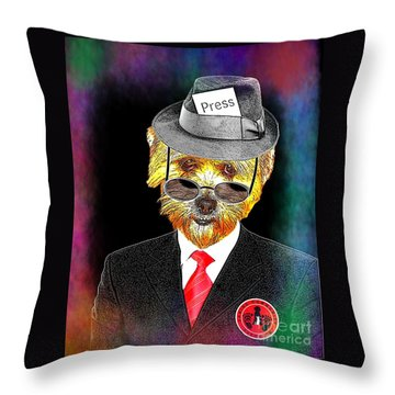 I Report The News Throw Pillow