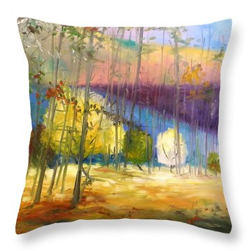 I See A Glow Throw Pillow by John Williams