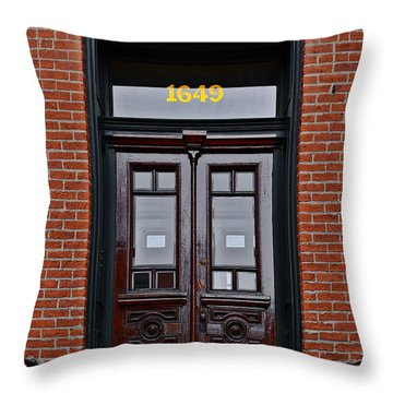 I See A Red Door Throw Pillow by Christine Till