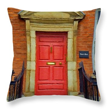 I See A Red Door Throw Pillow by Jeff Kolker