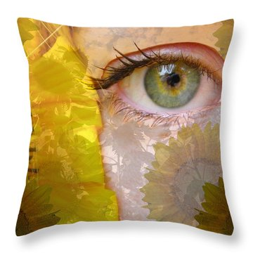 I See Sunflowers Throw Pillow
