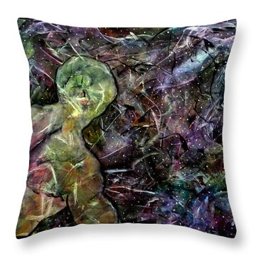Stardust - I Sing The Body Electric Throw Pillow by Jim Whalen