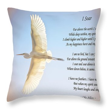 Throw Pillow featuring the photograph I Soar  by Ola Allen