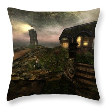I Stand Alone On An Emerald Isle Throw Pillow by Kylie Sabra