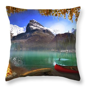 I Stillness I Heal Throw Pillow