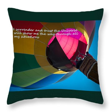 I Surrender And Trust Throw Pillow by Patrice Zinck