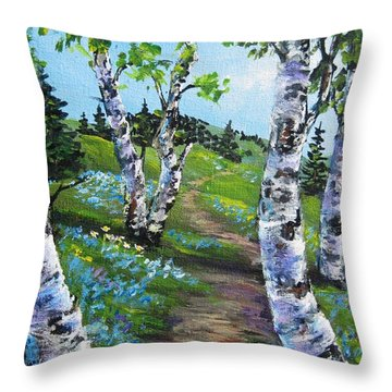 I Think I Will Walk Throw Pillow