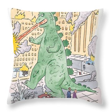 I Thought They Were Cracking Down On Jaywalking Throw Pillow