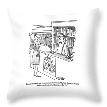 I Understand The Sex Scenes Have Been Removed But Throw Pillow