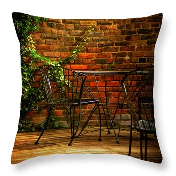 I Waited For You Throw Pillow by Lois Bryan