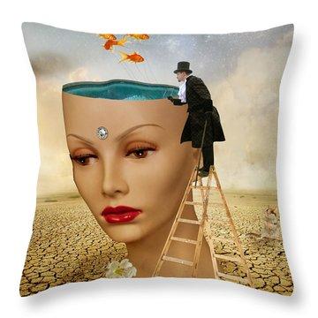I Want To Look Inside Your Head Throw Pillow