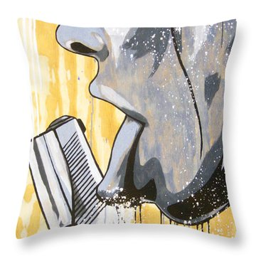 I Was A Teenage Hand Model Throw Pillow by Bobby Zeik
