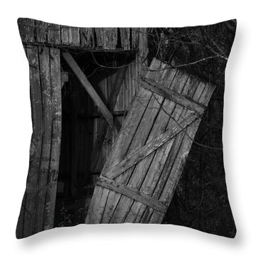 Throw Pillow featuring the photograph I Watched You Disappear - Bw by Rebecca Sherman