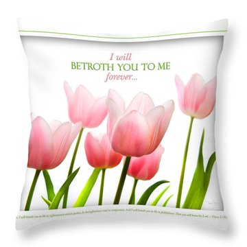 I Will Betroth You Throw Pillow