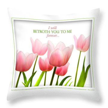 I Will Betroth You Throw Pillow by Shevon Johnson
