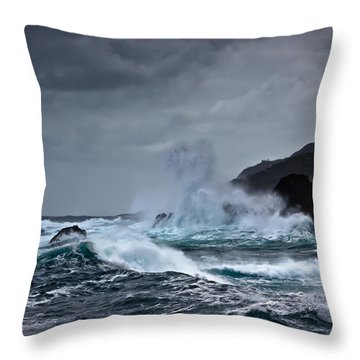 I Will Embrace The Moon Throw Pillow by Edgar Laureano