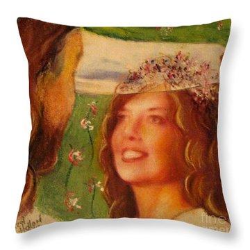 I Will Lift The Veil Throw Pillow