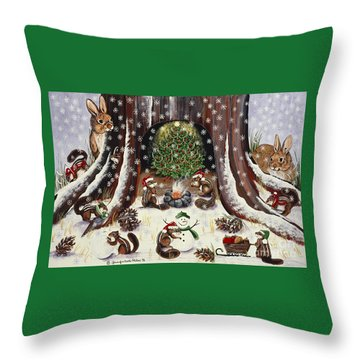 I Wish We Were Invited Throw Pillow by Jennifer Lake