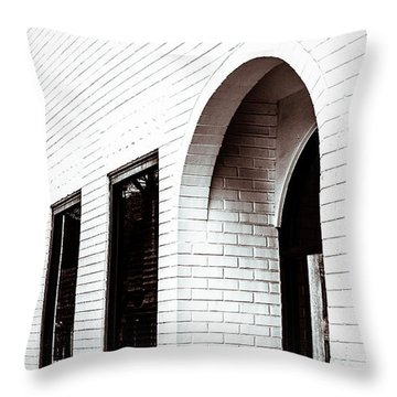 I Woke Up In A Soho Doorway Throw Pillow by Wade Brooks